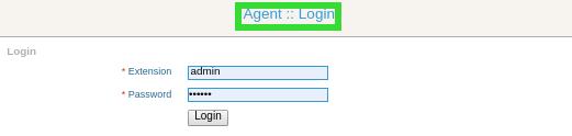 Agent login form