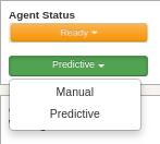 Agent Status Predictive or Manual
