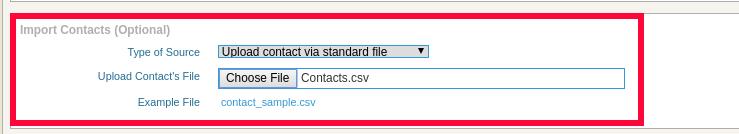 standard csv file in ICTBroadcast