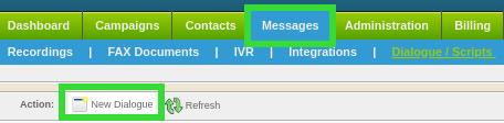Configure New Dialogue